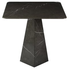 Ultra Thin Grey Graphite Marble Squared Coffee Table