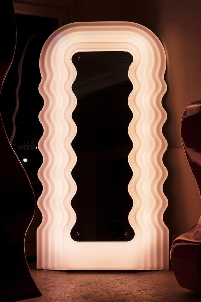 Post-Modern Ultrafragola Mirror by Ettore Sottsass For Sale