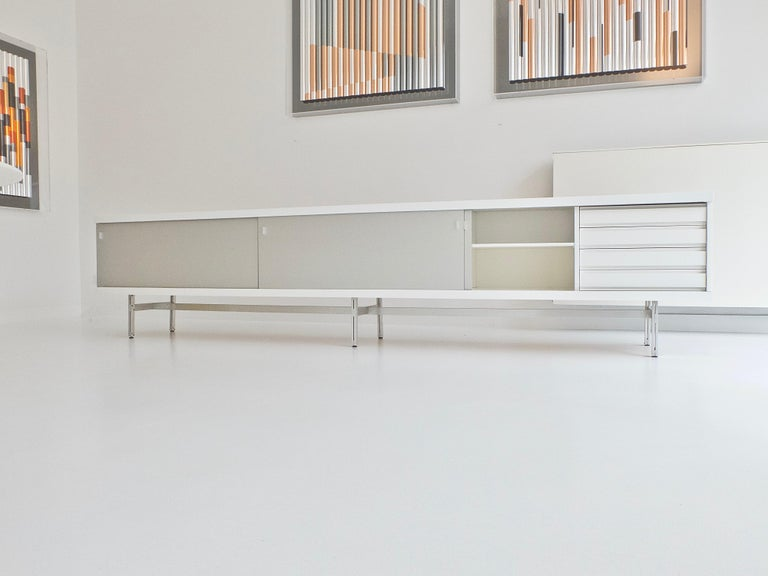 Ultralong sideboard model 1730 by Horst Brüning for Behr Production KG, 1967 For Sale 10