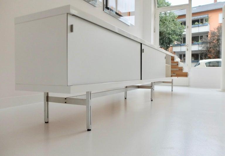 Aluminum Ultralong sideboard model 1730 by Horst Brüning for Behr Production KG, 1967 For Sale