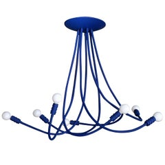 Ultramarine Blue Meander Chandelier