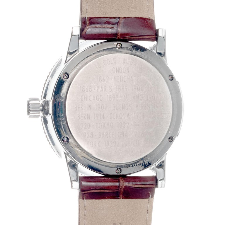 Men's Ulysee Nardin 1846 Marine Chronometer Stainless Steel Wristwatch For Sale