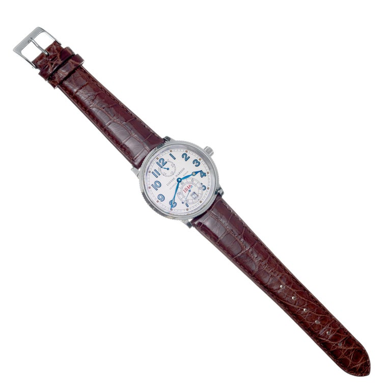 Ulysee Nardin 1846 Marine Chronometer Stainless Steel Wristwatch For Sale 3