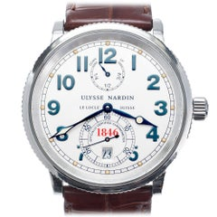 Ulysee Nardin 1846 Marine Chronometer Stainless Steel Wristwatch