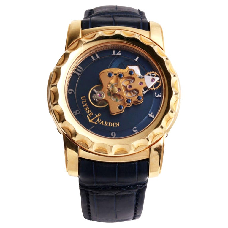 Ulysse Nardin 18 Karat Pink Gold Freak Carrousel Tourbillon Wristwatch For Sale