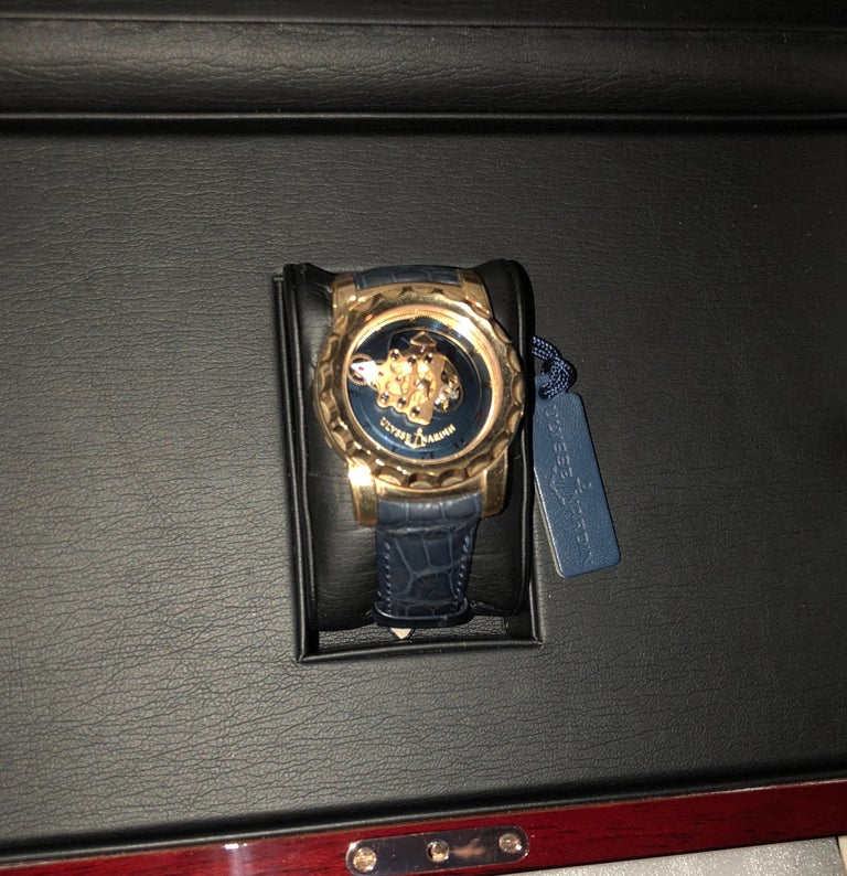 Men's Ulysse Nardin 18 Karat Pink Gold Freak Carrousel Tourbillon Wristwatch For Sale