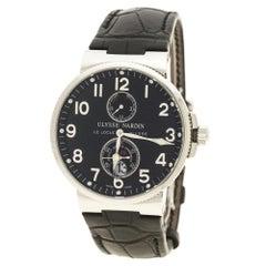Ulysse Nardin Black Stainless Steel Maxi Marine Automatic Men's Wristwatch 41 mm