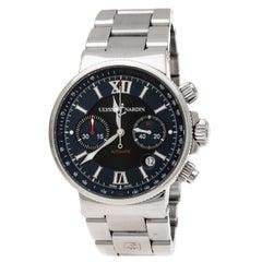 Ulysse Nardin Blue/Black  Maxi Marine 353-66 Chronograph Men's Wristwatch 41 mm