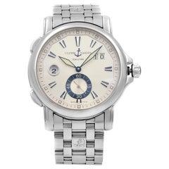 Ulysse Nardin Dual Time Steel Silver Dial Automatic Men's Watch 243-55-7/91