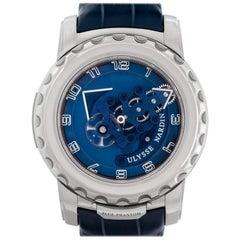 Ulysse Nardin Freak 020-81 18 Karat White Gold Blue Phantom Manual Watch