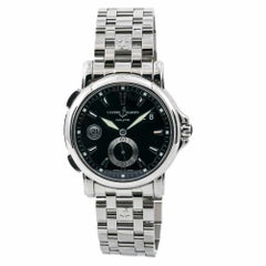 Ulysse Nardin GMT 243-55 Men's Automatic Watch Stainless Steel Box and Paper