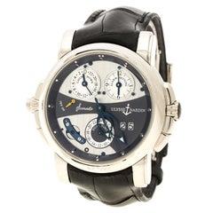 Ulysse Nardin Grey 18K White Gold Sonata Cathedral GMT UN067 Men's Wristwatch 42