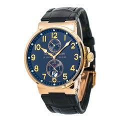 Ulysse Nardin Marine 266-66 Men's Automatic Watch Black Dial 18 Karat Rose