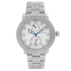 Ulysse Nardin Marine Chronometer Steel Silver Dial Mens Watch 263-51