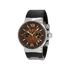Ulysse Nardin Marine Chronograph Brown Dial Watch 353-66