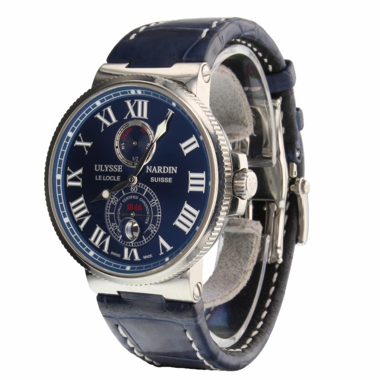 9cd3fad5bf610 Ulysse Nardin Marine Chronometer 1846 Blue Dial Men s Watch 263 67 3 43YAC  For Sale at 1stdibs