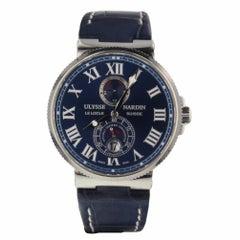 Ulysse Nardin Marine Chronometer 1846 Blue Dial Men's Watch 263 67 3/43YAC