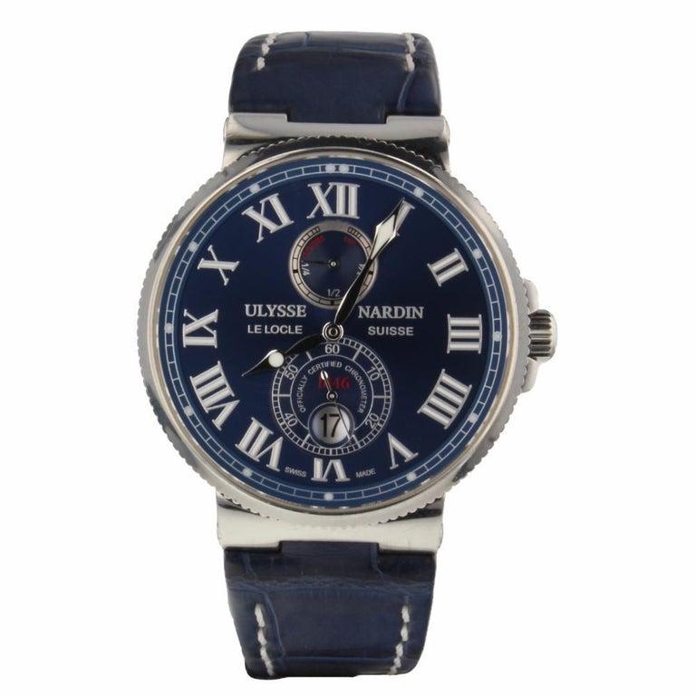 412fbbfb3da8e Ulysse Nardin Marine Chronometer 1846 Blue Dial Men s Watch 263 67 3 43YAC  For Sale