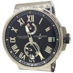 Ulysse Nardin Marine Stainless Steel Automatic Men's Watch 1183-122-7M-42 New
