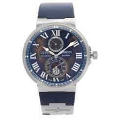 Ulysse Nardin Maxi Marine Steel Blue Dial Automatic Mens Watch 263-67-3/43