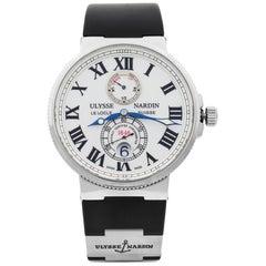 Ulysse Nardin Maxi Marine Chronometer White Dial Automatic Men Watch 263-67-3/40