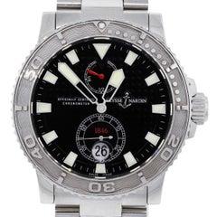 Ulysse Nardin Maxi Marine Stainless Steel Black Dial Chronometer Wrist Watch