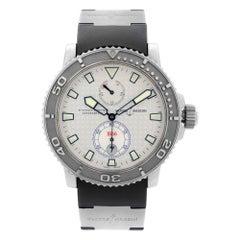 Ulysse Nardin Maxi Marine Steel Silver Dial Automatic Mens Watch 263-33