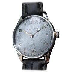 Ulysse Nardin Men's 18K Solid Gold Large Dress Watch, circa 1960s Swiss LV733