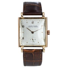Ulysse Nardin Rose Gold Art Deco Original Crystal and Crown Manual Watch