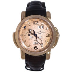 Ulysse Nardin Rose Gold GMT Perpetual Calendar Self-Winding Wristwatch