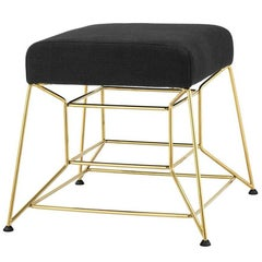 Ulysse Stool in Gold Finish