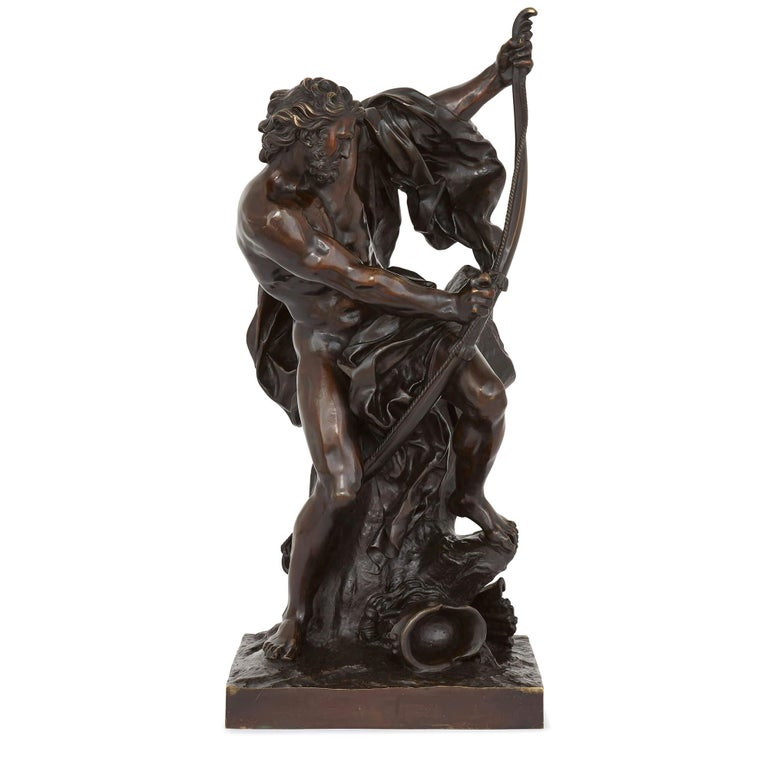 'Ulysses Bending His Bow' (also known as 'Ulysse tendant l'arc dont Pénélope doit être le prix') is one of the most admired French sculptures of the neoclassical age of the 18th century. It was first completed in 1715 by Jacques Bousseau