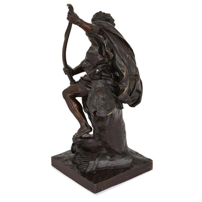 'Ulysses Bending His Bow', 19th Century Bronze Sculpture In Excellent Condition For Sale In London, GB