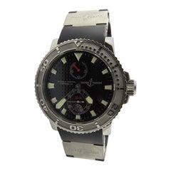 Ulysses Nardin Maxi Marine Diver Chrono 1846 Black Dial Strap 263-33-3/92 Watch