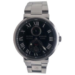 Ulysses Nardin Maxi Marine Stainless Steel Black Dial Watch 263-67