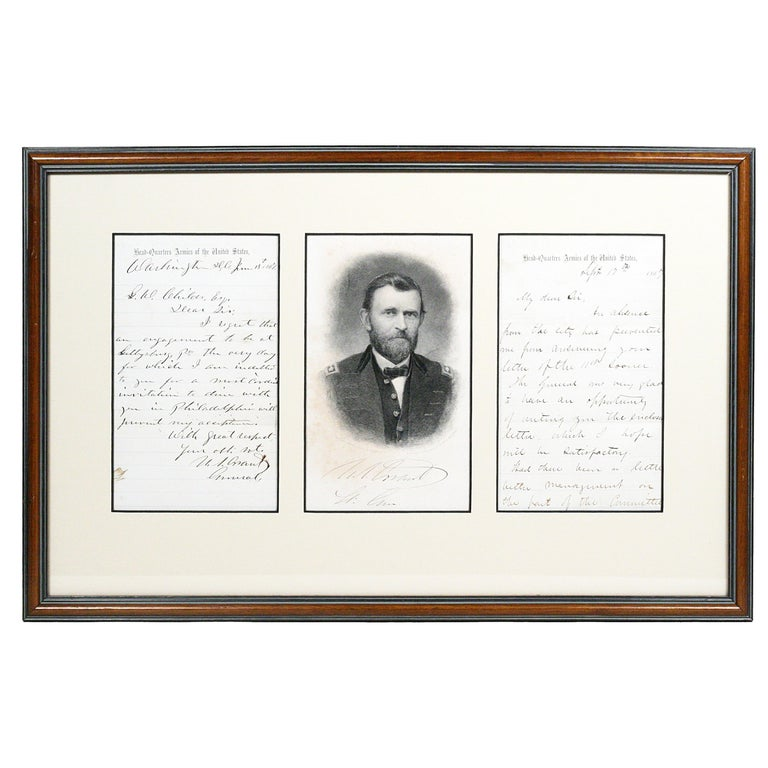 Ulysses S. Grant, Autograph Letter Signed Mentioning Gettysburg For Sale