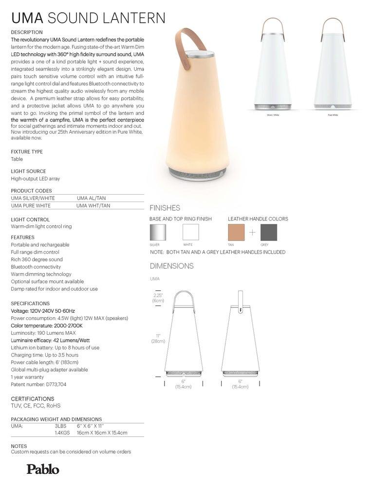 Uma Sound Lantern in White by Pablo Designs 5