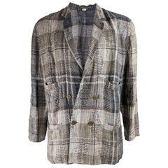 Umberto Ginocchietti Men's Vintage Checked Blazer Jacket