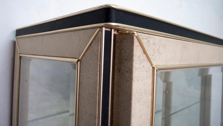 Glass Umberto Mascagni for Harrods London Midcentury Italian Bar Cabinet, 1950s For Sale