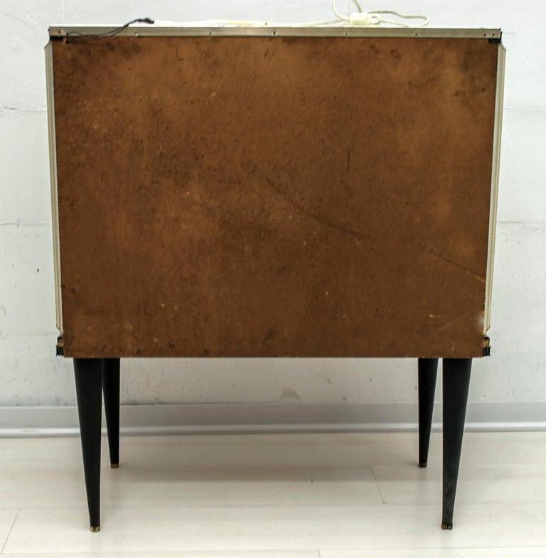 Umberto Mascagni for Harrods London Midcentury Italian Bar Cabinet, 1950s For Sale 11