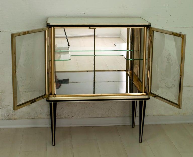 Aluminum Umberto Mascagni for Harrods London Midcentury Italian Bar Cabinet, 1950s For Sale