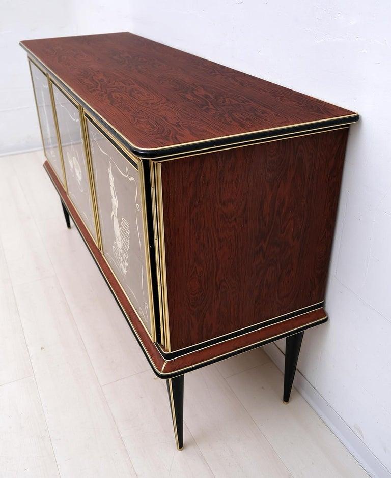 Umberto Mascagni for Harrods London Midcentury Italian Bar Cabinet, 1950s For Sale 1