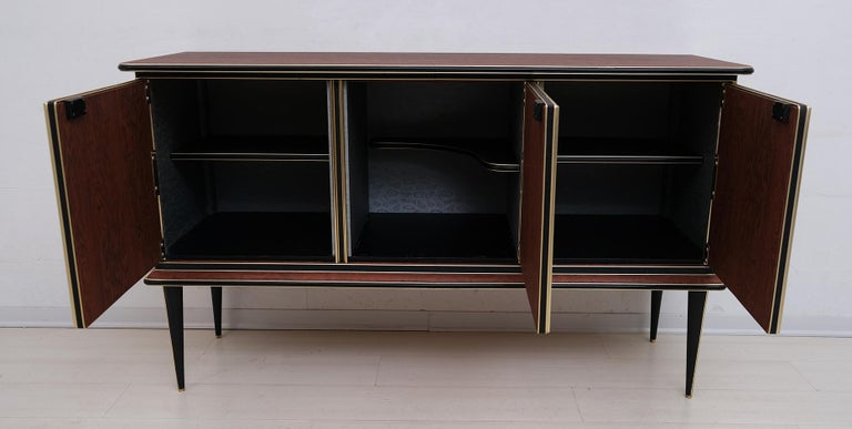 Umberto Mascagni for Harrods London Midcentury Italian Bar Cabinet, 1950s For Sale 3