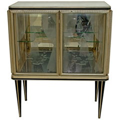 Umberto Mascagni for Harrods London Midcentury Italian Bar Cabinet, 1950s