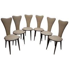 Umberto Mascagni for Harrods London Midcentury Italian Dining Chairs, 1950s