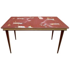 Umberto Mascagni for Harrods London Midcentury Italian Dining Table, 1950s