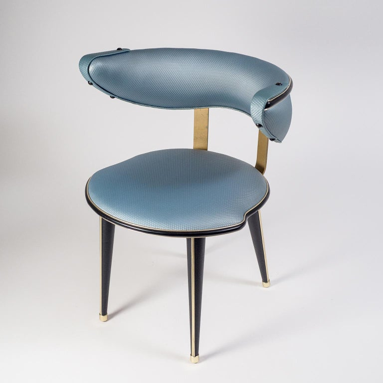 Umberto Mascagni Vanity Chair, circa 1960 For Sale 5