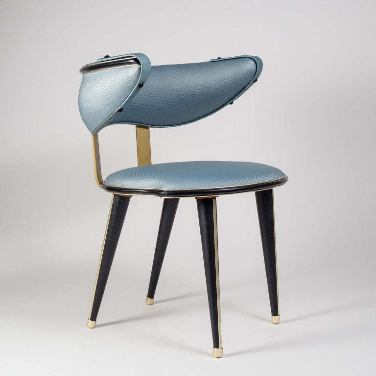 Umberto Mascagni Vanity Chair, circa 1960 For Sale 7