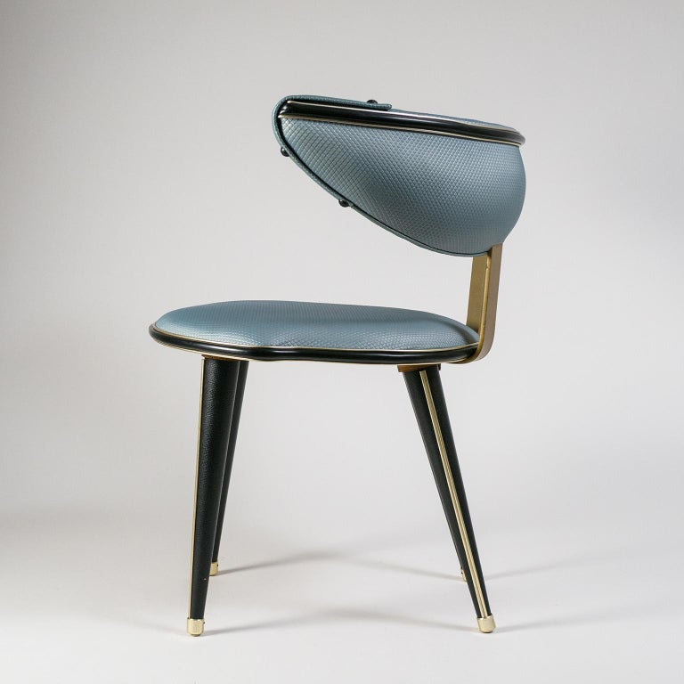 Mid-Century Modern Umberto Mascagni Vanity Chair, circa 1960 For Sale
