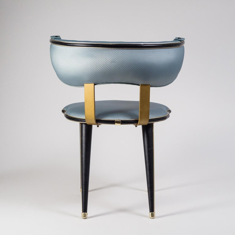 Umberto Mascagni Vanity Chair, circa 1960 In Good Condition For Sale In Vienna, AT
